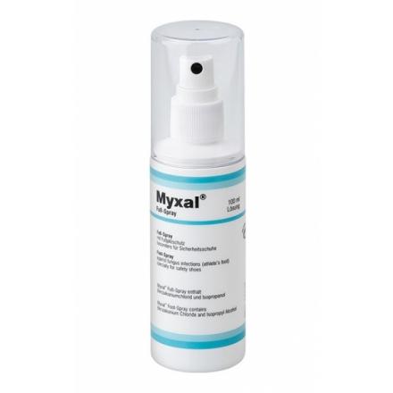 Spray fara alcool cu efect antibacterial si antimicotic MYXAL Foot-Spray- 100 ml
